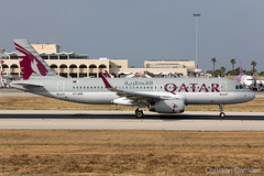 Qatar Airways Airbus A320-232 'A7-AHR' LMML - 06.06.2019 (Chris_Camille) Tags: spottinglog registration planespotting spotting maltairport airplane aircraft plane sky fly takeoff airport lmml mla aviationgeek avgeek aviation canon5d canon livery myphoto myphotography
