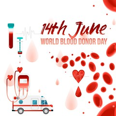 World blood donor day - 14th June banner with giving blood charity elements isolated on white background. (genhealthtips) Tags: blood donor medical vector flat banner heart poster hand ambulance syringe medicine health help drop donation hospital human symbol donate care clinic heartbeat red save life banking design healthcare transfusion hope charity cardiology aid concept element pulse illustration assistance icon emblem artery vein bag lifesaving volunteer background isolated cell drip