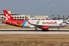 Air Malta A320-251N '9H-NEO' LMML - 06.06.2019 (Chris_Camille) Tags: spottinglog registration planespotting spotting maltairport airplane aircraft plane sky fly takeoff airport lmml mla aviationgeek avgeek aviation canon5d canon livery myphoto myphotography