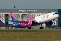 HA-LVC (Andras Regos) Tags: aviation aircraft plane fly airport bud lhbp spotter spotting takeoff wizz wizzair airbus a321 a321neo neo