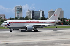 Royal Canadian Air Force, Airbus CC-150 Polaris, 15003 at TJSJ in Retro Colors. (Angel Moreno Photography) Tags: royalcanadianairforce airbuscc150polaris 15003 tjsj retrocolors sanjuan puertorico airport airplane a310 runaway sky clouds planespotting