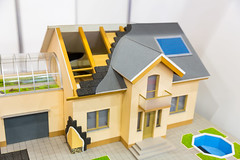 Model of house, thermal insulation of roof concept (Baumerk Construction Chemicals) Tags: house roof home heat construction energy insulation thermal efficiency saving architecture insulate material property model protection housing insulating temperature laying business white wood roofing rockwool concept cold money attic layer mineral residence winter build worker eaves builder residential warm consumption timber work system efficient electricity building