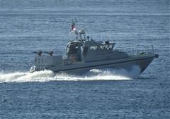 Royal Navy Scimitar Class Patrol Boat, HMS Sabre, P285 off Catalan Bay, Gibraltar (29) (andrew.dace) Tags: royal navy scimitar class patrol boat gibraltar