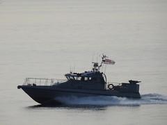 Royal Navy Scimitar Class Patrol Boat HMS Scimitar, P284, off Catalan Bay, Gibraltar (1) (andrew.dace) Tags: royal navy scimitar class patrol boat gibraltar