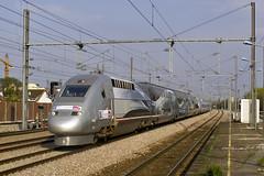 Rame V150 de retour d'une marche post-record (Alexoum) Tags: sncf worldrecord tgv v150 pos chelles france train railway