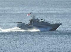 Royal Navy Scimitar Class Patrol Boat, HMS Sabre, P285 off Catalan Bay, Gibraltar (26) (andrew.dace) Tags: royal navy scimitar class patrol boat gibraltar