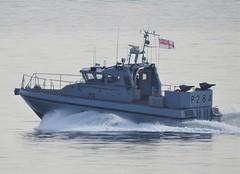 Royal Navy Scimitar Class Patrol Boat HMS Scimitar, P284, off Catalan Bay, Gibraltar (andrew.dace) Tags: royal navy scimitar class patrol boat gibraltar
