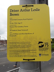 D-Day 75 Commemoration Plaque to Driver Arthur Leslie  Brown (graham19492000) Tags: