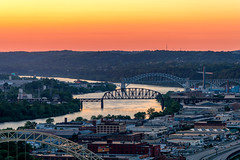 Ohio River Sunset - Pittsburgh, Pennsylvania (Tony Webster) Tags: brunotisland duquesneheights ohioriver pennsylvania pittsburgh sunset unitedstatesofamerica