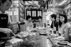 Hiroshima - Okonomimura (-dow-) Tags: giappone hiroshima japan okonomimura okonomiyaki お好み村 お好み焼き 広島 日本 monochrome fujifilm x70