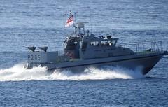 Royal Navy Scimitar Class Patrol Boat, HMS Sabre, P285 off Catalan Bay, Gibraltar (28) (andrew.dace) Tags: royal navy scimitar class patrol boat gibraltar