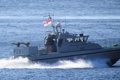 Royal Navy Scimitar Class Patrol Boat, HMS Sabre, P285 off Catalan Bay, Gibraltar (27) (andrew.dace) Tags: royal navy scimitar class patrol boat gibraltar