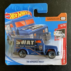 Mattel Hot Wheels - Number 182 / 250 -  HW Rescue 2019 -  Number 5 / 10 - HW Armored Truck SWAT Police Department - Miniature Diecast Metal Scale Model Emergency Services Vehicle (firehouse.ie) Tags: metal truck miniatures miniature model cops models police hotwheels he armored polizei mattel swat policia polis hw polizia politi politie armoured hrt armoredtruck polizeiauto policja polizeiwagen armouredtruck hwrescue hwrescue2019 vehicles vehicle