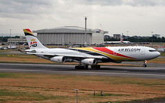 OO-ABB (ianossy) Tags: airbus a340313 a343 lhr egll ooabb
