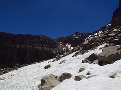 Snow on the Scree (annestravels2) Tags: ibantiklake utah uintamountains snow mountains notchmountain
