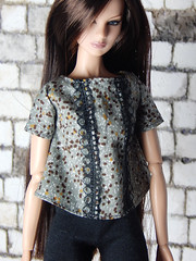 """Lace shirt """"Terrazzo"""" from my """"Summer is here"""" - new fashion collection (Levitation_inc.) Tags: ooak doll dolls clothes handmade fashion fashions levitation levitationfashion summer 2019 royalty nuface poppy parker barbie barbiestyle"""