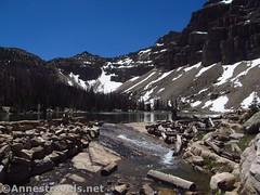Ibantik Lake Outlet (annestravels2) Tags: ibantiklake utah uintamountains lake mountains notchmountain stream