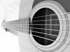 Guitar. (the.haggishunter) Tags: music instrument guitar acoustic bw musicinbw smileonsaturday