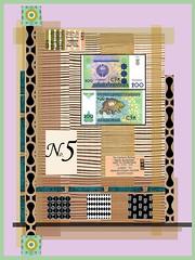 foreign money (ladybumblebee) Tags: digitalart digitalcollage foreignmoney layers contemporarywomenartists art