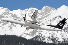 OE-LGP (toptag) Tags: bombardierdhc8402q400 q400 oelgp inn lowi innsbruck aviation mountain snow austrian staralliance dash bombardier