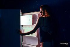 Solange (.Alejandro Rubio.) Tags: lenceria lingerie noche night sensual claroscuro pelirroja fotora retrato strobist flash nikon alerubio