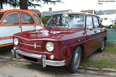 Renault 8 (Monde-Auto Passion Photos) Tags: voiture vehicule auto automobile renault r8 berline red rouge ancienne classique collection rassemblement france courtenay