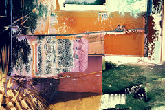 color abstract #26 (Pomo photos) Tags: color colored abstract abstraction surreal surrealism expressionism city cityscape wall street urban lost decay abandoned fujifilm xa2 impressionism orange green line lines blue