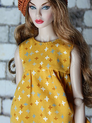"""Gigi's shirt from """"Summer is here"""" - new fashion collection (Levitation_inc.) Tags: ooak doll dolls clothes handmade fashion fashions levitation levitationfashion summer 2019 royalty nuface poppy parker barbie barbiestyle"""