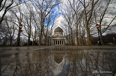 Winter at Grants Tomb (Matt Straite Photography) Tags: tomb new york grant national park sky clouds reflection reflections wide tripod