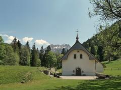 Chapelle de Vallon - Bellevaux (Haute-savoie) FRANCE (Bernard P.) Tags: chapelle montagne neige forêt vert nikon