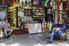 1033  A quiet day at the market (foxxyg2) Tags: istanbul turkey market bazaar tourism shops colour street candid