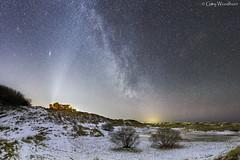 Winter Stars - Milky Way, Bamburgh Castle, Northumberland (Gary Woodburn) Tags: stars starry night dark winter snow bamburgh castle northumberland milky way aurora starlight canon 6d samyang 24mm