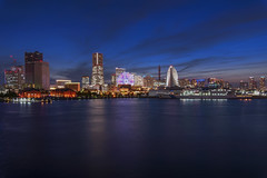 Yokohama Skyline (Lemuel Montejo) Tags: cityscape skyline city life officebuilding architecture urban building street night sky travel sunset blue yokohama minatomirai japan lemuelmontejoartworks mvisuals nikon tamron benro