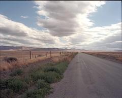 (ADMurr) Tags: california slo county ranch road low hills clouds 6x7 mamiya 7 65mm kodak ektar dbb023