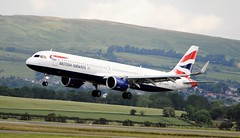 G-NEOS AIRBUS A321-251X NEO (douglasbuick) Tags: gneos airbus a320251x neo british airways landing runway 23 glasgow airport scotland heathrow shuttle egpf airplane plane airliner