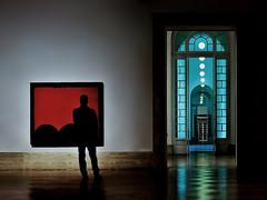 f u o c o (Gaia Rampon) Tags: red art nikkor design color colors luciofontana abstract fuoco iteatrini astrattismo rosso concettospaziale spatialconcept shadows modernart rome