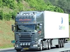 Scania R-series topline from M v d Wiel Holland. (capelleaandenijssel) Tags: 53bgz7 truck trailer lorry camion lkw transport charter distrifresh