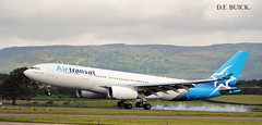 C-GTSI AIRBUS A330-243 (douglasbuick) Tags: cgtsi airbus a330243 air transat new livery canadian airliner aircraft landing glasgow airport runway 23 plane canada nikon d300 scotland intera international flight egpf airways