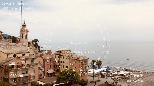 Étape 44 -  Genova -  Camogli  - Boussole pointant vers la ville de Sousse, vis-à-vis de l'atelier de Ridha Dhib