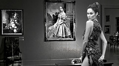 (horlo) Tags: nicoletrunfio bw blackandwhite vintage noiretblanc nb wallpaper fonddécran glamour monochrome woman femme portrait collage