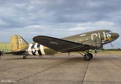 "Commemorative Air Force ""D-Day Doll"" C-53D (DC-3A) N45366 (42-68830) (birrlad) Tags: duxford iwm london uk daksovernormandy realaircraft piston prop dak dc3 c47 n45366 4268830 american airpower heritage flying museum commemorative air force c53d dakota ddaydoll dc3a parked apron ramp skytrooper"
