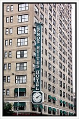 Chicago Illinois - Lenox Suites Hotel - Neon Sign With Clock (Onasill ~ Bill Badzo) Tags: chicago il illinois cookcounty 616 n rush st lenox suites hotel downtown miracle mile closeto nrhp historic lodging stay over night neon sign vertical clock vintage old photo onasill windycity district