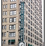 Chicago Illinois - Lenox Suites Hotel - Neon Sign With Clock thumbnail
