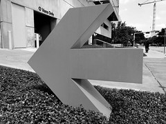 To the Left, to the Left (Diorama Sky) Tags: museum us texas unitedstates tx houston sign arrow artmuseum fora mfah museumoffineartshouston dioramasky parkinggarage