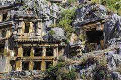 1167 The Lycian Rock Tombs of ancient Myra (foxxyg2) Tags: history tombs rocktombs lycian turkey turkish greek byzantine antalya myra demre