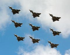 201807 RAF 9 Typhoons RIAT (Gedblofeld) Tags: riat fairford