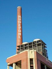 An Icon Soon To Come Down (dtrohdenburg) Tags: hudepohl brewery smokestack cincinnati ohio