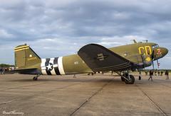 "Gooney Bird Group Inc.  ""Betsy's Biscuit Bomber"" C-47B (DC-3C) N47SJ 43-48608 (birrlad) Tags: duxford iwm london uk daksovernormandy realaircraft piston prop dak dc3 c47 parked apron ramp gooney bird group inc n47sj 4348608 betsysbiscuitbomber skytrain"