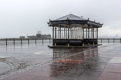 I do like to be beside the seaside (Philip Brookes) Tags: rain water shelter newbrighton wirral merseyside promenade england britain weather storm