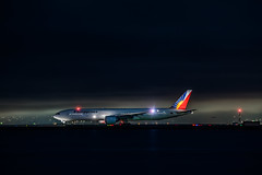 philippine airlines flight pr 115 takeoff to manila (pbo31) Tags: bayarea california nikon d810 june 2019 boury pbo31 spring sanfranciscointernational sfo burlingame sanmateocounty night black airport dark airline travel aviation plane flight departure runway philippine 777 boeing takeoff color